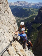 Rock Climbing Photo: Stunning scenery with Corvara in the distance, gre...