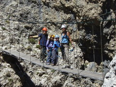 Rock Climbing Photo: The bridge near the top