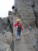 Rock Climbing Photo: A bridge on the route