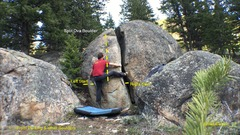 Rock Climbing Photo: Working up to the crux of Hot Springs County Hilto...