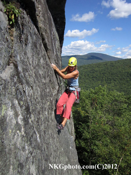 Rock Climbing Photo: Isa on the 2nd ascent of Mad Man