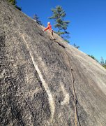Rock Climbing Photo: Only another 40 thought-provoking feet to the anch...