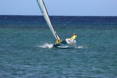 Rock Climbing Photo: Sheri, Alexa and Jonah sailing in Ocho Rios Jamaic...
