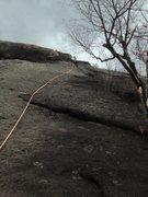 Rock Climbing Photo: Ben Miller at P1 anchor