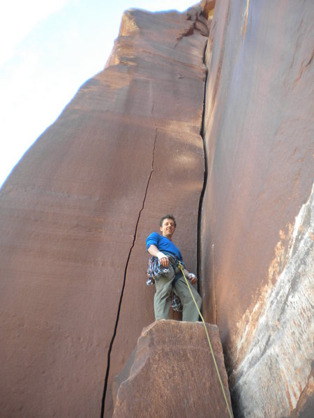 Rock Climbing Photo: Won't be smiling before too long