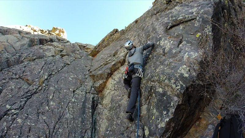 Rock Climbing Photo: Josh Pollock on the Takin' it Easy variation.