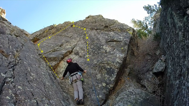 Rock Climbing Photo: A (fisheye) view of the lower half of the route.  ...