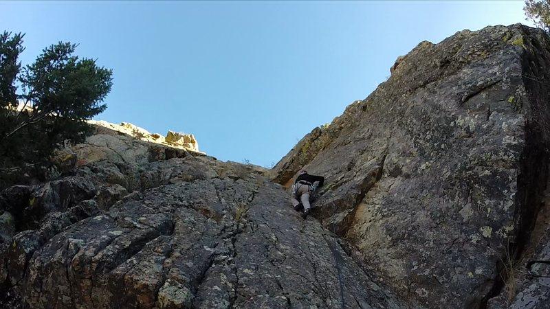 Rock Climbing Photo: Jake Waples starts the Takin' it Slow variation.