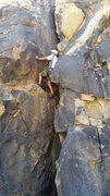 Rock Climbing Photo: Dave Kosmal below the crux on Shadowlands.