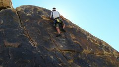 Rock Climbing Photo: Dave Kosmal, trying to keep it together during the...