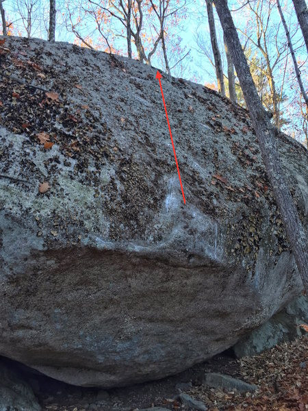 Rock Climbing Photo: This photo shows the general line of travel for 'T...