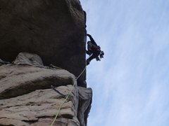 Rock Climbing Photo: My first time leading the final pitch.