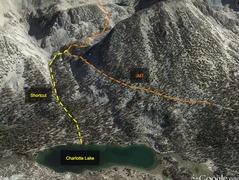 Rock Climbing Photo: Shortcut from Charlotte Lake to Glen Pass.