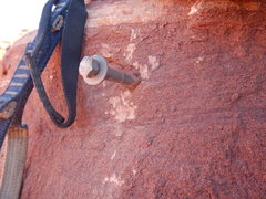 Rock Climbing Photo: A somewhat typical bolt in the Mystery Towers.