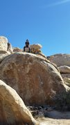 Rock Climbing Photo: Doing the saxwing after finally getting the send :...