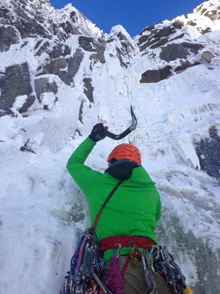 Rock Climbing Photo: Alex Teixeira of Mooney Mountain Guides launching ...