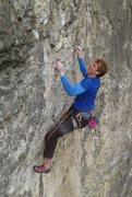 Rock Climbing Photo: King of Ming f7b+ Stoney Middleton