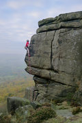 Rock Climbing Photo: The Beer Hunter E3 6a Curbar Gap