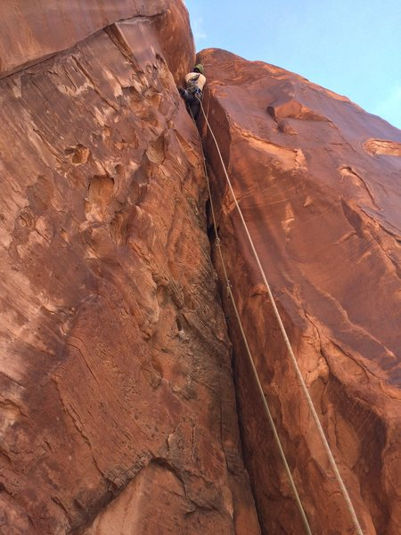 Rock Climbing Photo: Finshing off this gem of a route!