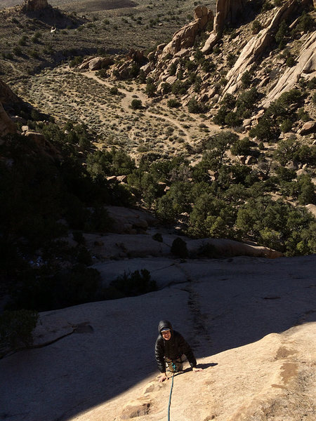 "Rock Climbing Photo: Coming up the ""first"" pitch. The ledge i..."