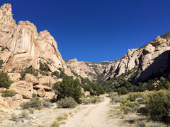 Rock Climbing Photo: Candyland on the right side of the photo in half s...