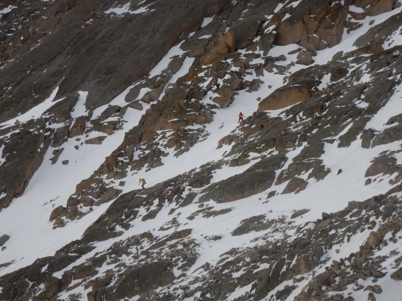 Rock Climbing Photo: Skiers getting after it.