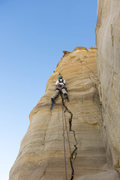 Rock Climbing Photo: Roy Suggett getting the Groomsman started. This cr...