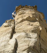 Rock Climbing Photo: Why is my belayer standing underneath me as I cran...