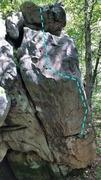 Rock Climbing Photo: Topo of high and dry