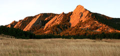 Rock Climbing Photo: Flatirons from the Chautauqua trailhead.