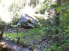 Rock Climbing Photo: When you see this boulder, the hole in the side of...