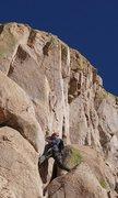 Rock Climbing Photo: Last pitch of Ewephoria