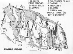 Rock Climbing Photo: Eagle Crag . 1965 from Ross/Thompson Borrowdale Gu...
