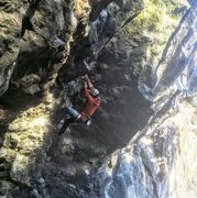 Rock Climbing Photo: A shot of me trying for the onsight