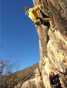 Rock Climbing Photo: Getting onto the face on a chilly fall day!