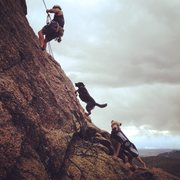 Rock Climbing Photo: Dogs are the absolute best