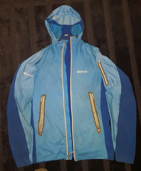 Marmot Vapor Trail Hoody jacket sz M (light stretchy soft shell)
