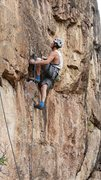 Rock Climbing Photo: my first 5.11b onsight in my baggy blue mythos and...