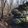The one big boulder I found