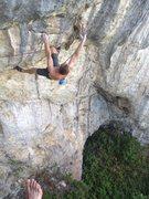Rock Climbing Photo: Getting info the business