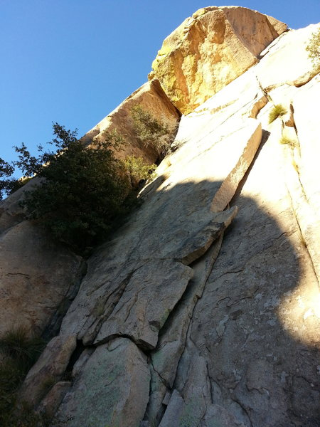 Rock Climbing Photo: From the base of Stronghold dome