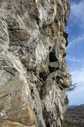 Rock Climbing Photo: The start of Chinese Water Torture, looking from t...