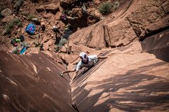 Rock Climbing Photo: Beware of the aliens on this route...not to be con...