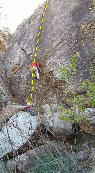 Solo Top Rope Ascent on the Meat Slab in the Narrows