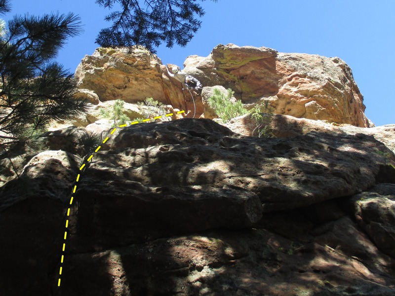 Rock Climbing Photo: Pulling through the looming roof up top.