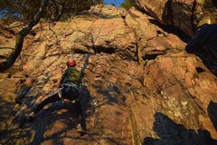 Rock Climbing Photo: Aidan low on Great White Hope.