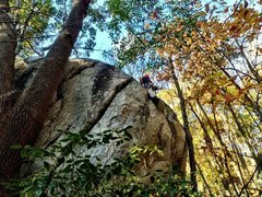 Rock Climbing Photo: Place some gear high and get those forearms ready....