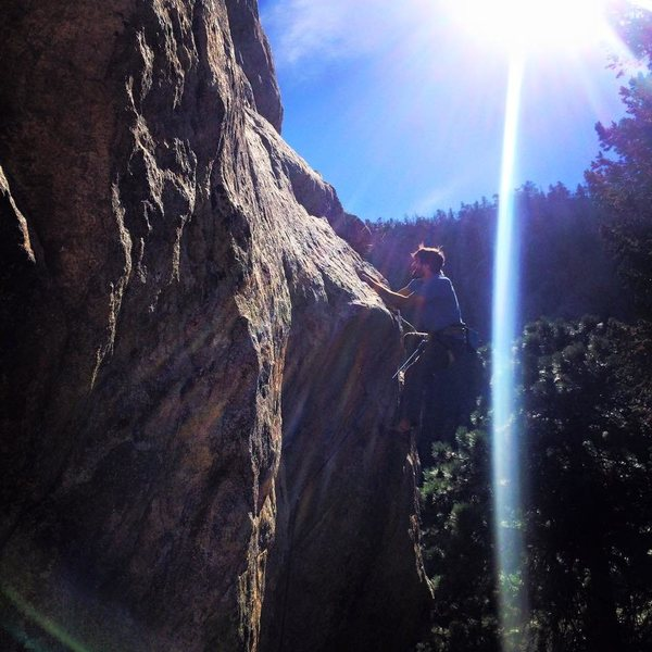 Rock Climbing Photo: Some thing in Boulder Canyon
