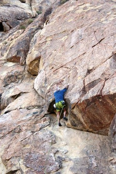 Rock Climbing Photo: Slabbin', Apple Valley Crags