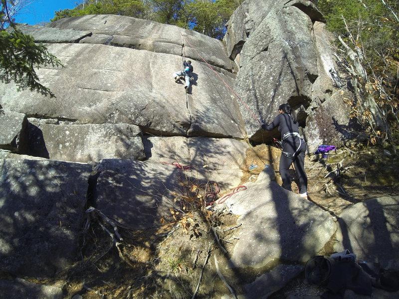 Rock Climbing Photo: Great finger crack, too bad its so short